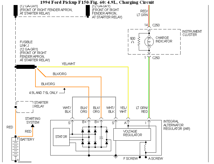 F truck alternator wiring diagram