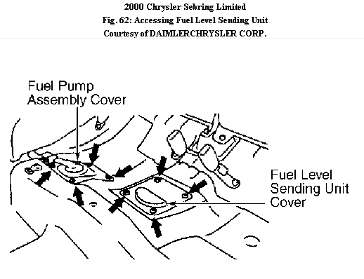 where is the fuel pump located in a 2000 chrysler sebring convertible 2005 Chrysler Sebring Fuse Diagram graphic