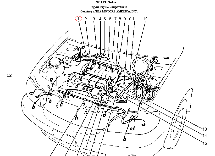 Graphic: 2003 KIA Sedona Engine Diagram At Johnprice.co