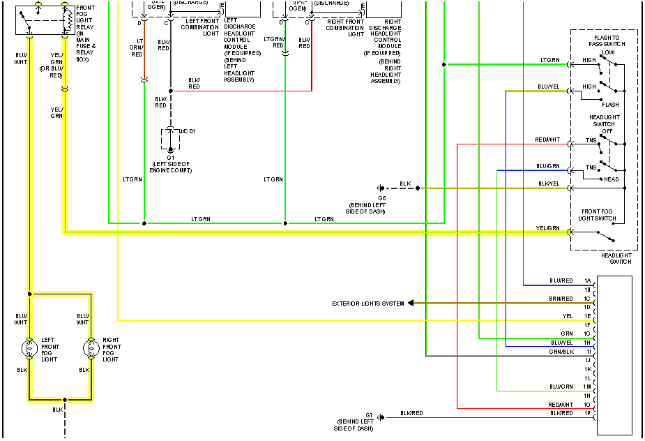 Need Wiring Diagram For 2007 Mazda 6 Isport 5 Door Fog Lights