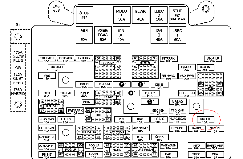 lighter fuse location for a 2005 chevy silverado 1965 Chevy Truck Wiring Diagram graphic