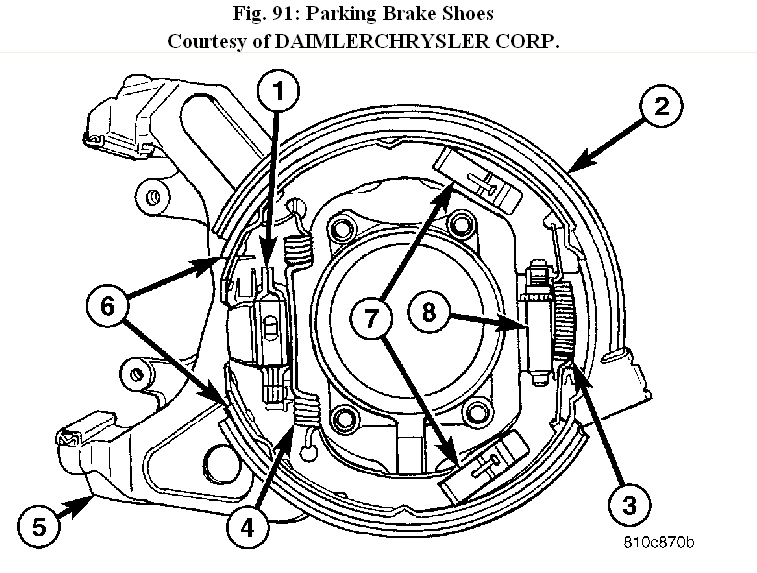 How To Take Rear Brake Assembly Apart To Replace The Parking Brake