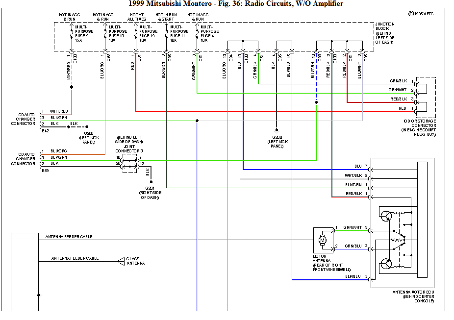 I Would Like A Wiring Diagram For The Radio On A 1999