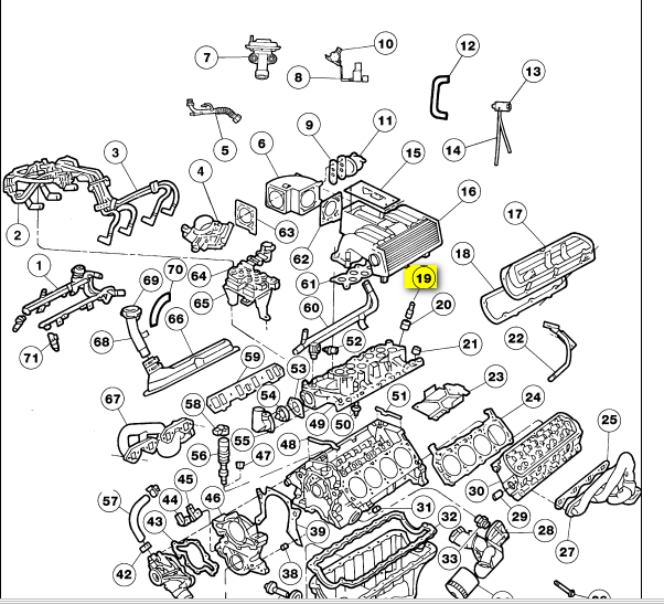 Where Is The Pcv Valve On A V8 97 Ford Explorer Located