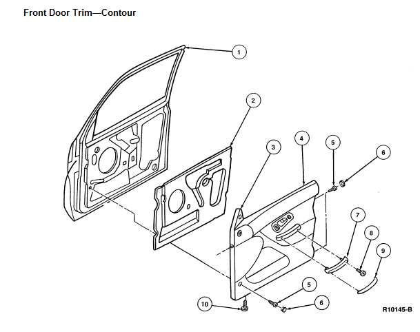 service manual  1998 ford contour door panel removal