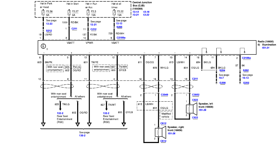also need the wiring diagram for the radio and speakers for 2004 rh justanswer com