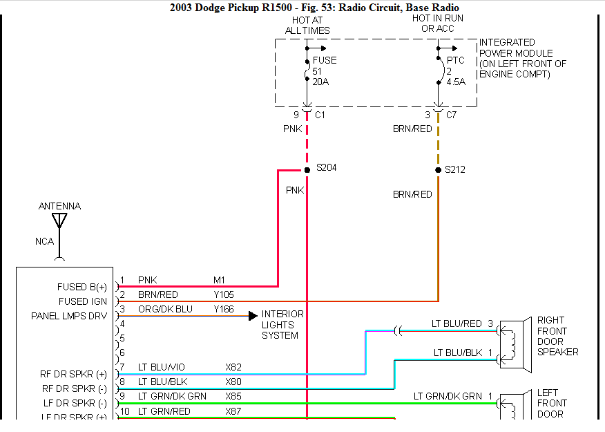 Ram on 2001 Dodge Ram 3500 Speaker Wiring Diagram