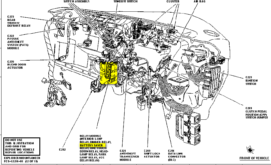 ford explorer relay diagram