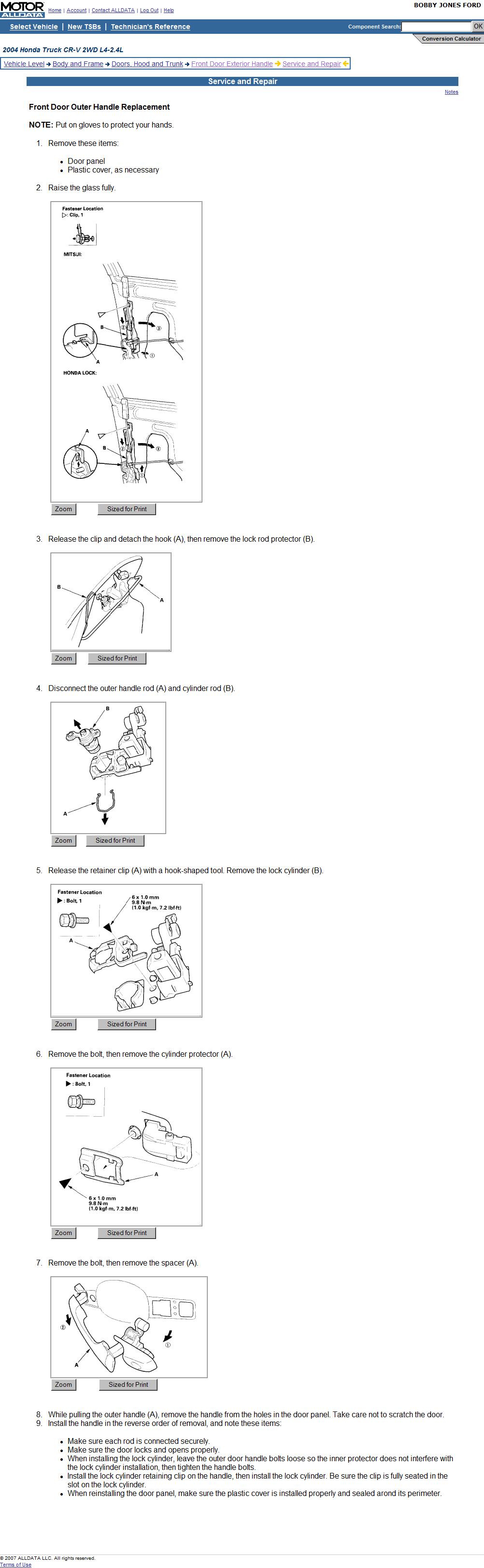 How do i remove the exterior door handle on a 2004 honda crv - How to remove exterior door knob ...
