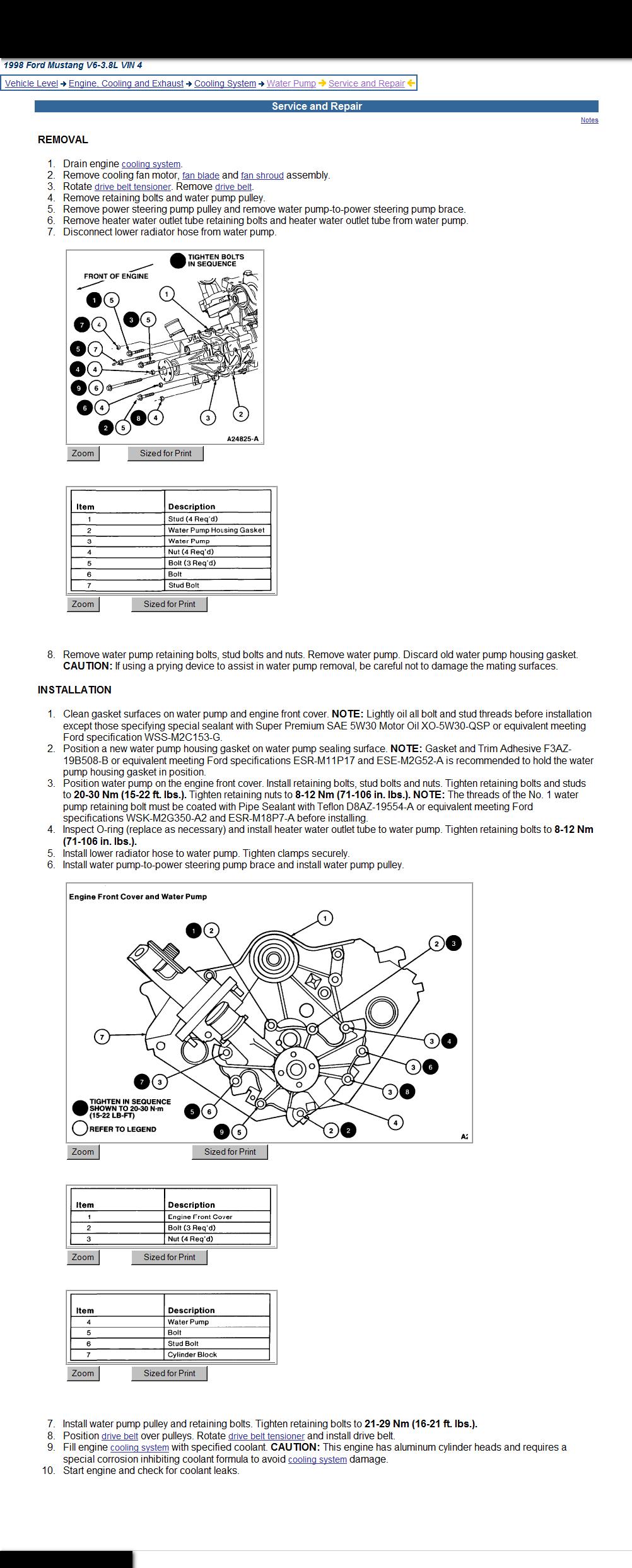 Mustang Coolant Diagram - Wiring Schematics