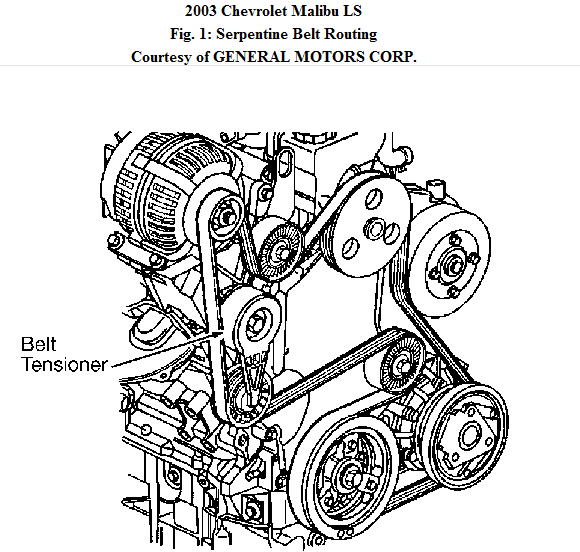 2003 chevy malibu ls fan belt broke need diagram to put new one on i have no diagram on how to