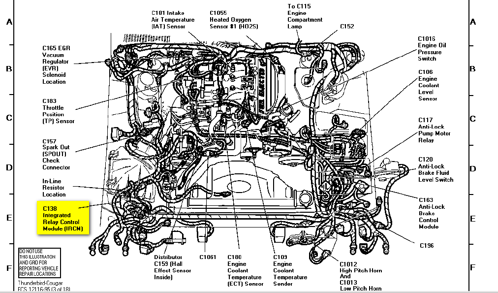 95 ford thunderbird where is the fuel pump relay?  Ford Thunderbird Engine Diagram on