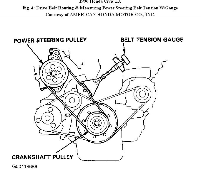 96 Honda Civic Belt Diagram