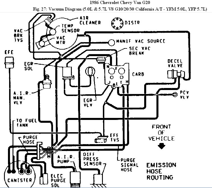 I U0026 39 M Looking For A Vacuum Diagram For A 1986 Chevy C20