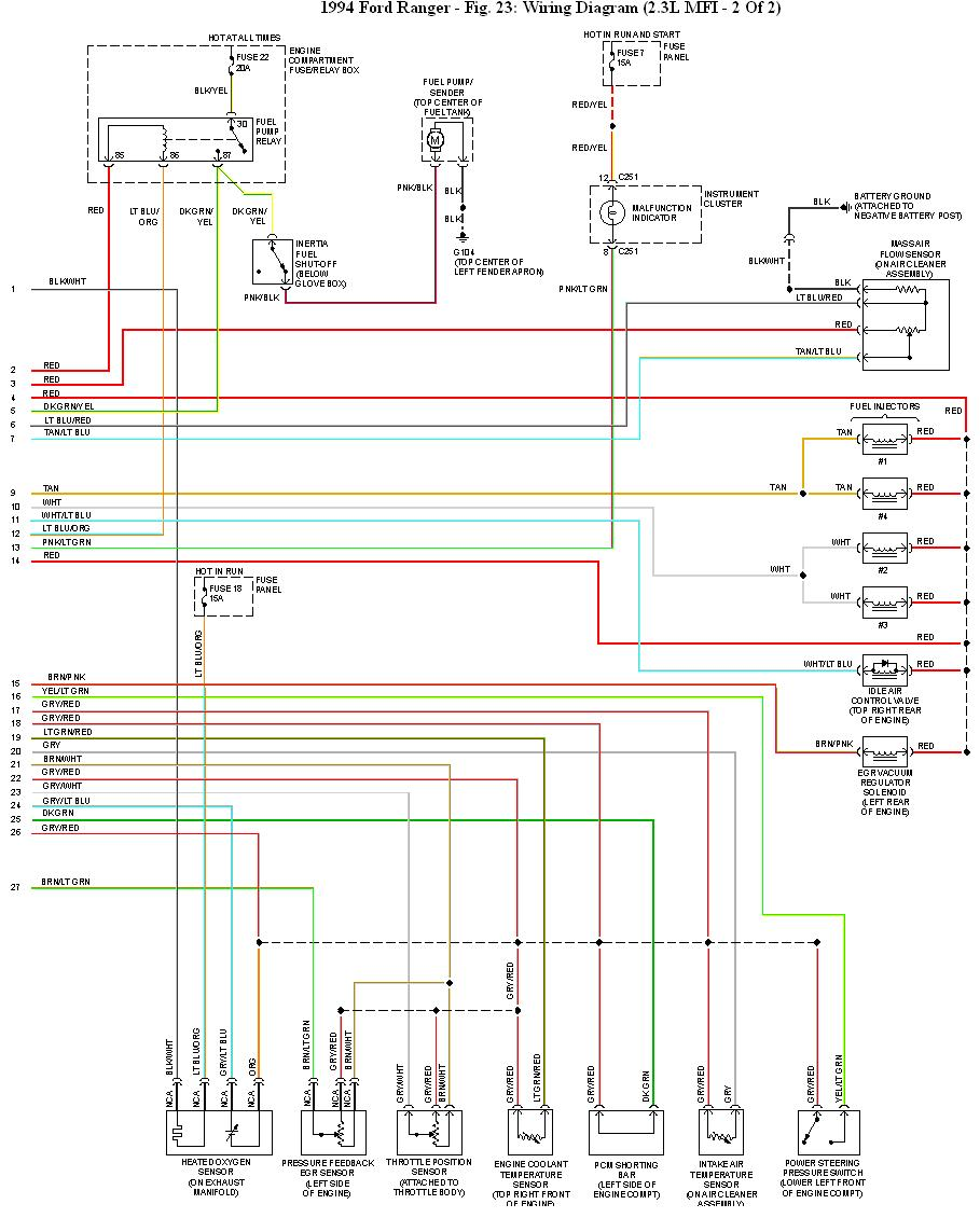 1994 Ford Ranger Wiring Schematic: Here We Go!! I Have A 1994 Ford Ranger XLT With The 2.3L