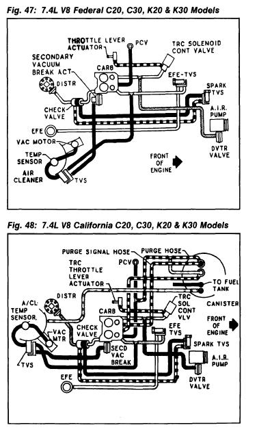Do You Know Where I Can Find A Vacuum Diagram Right Now For A 1982 Chevy C30 1 Ton