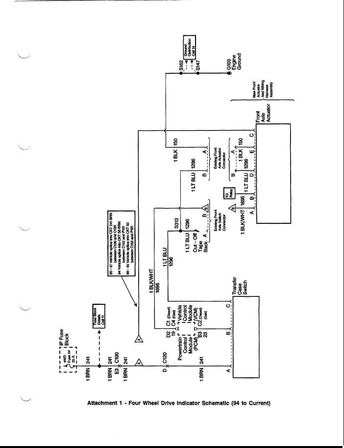 I Have A 97 K1500 Z71 5 7l Auto Trans Push Button 4x4 Wiring Diagram