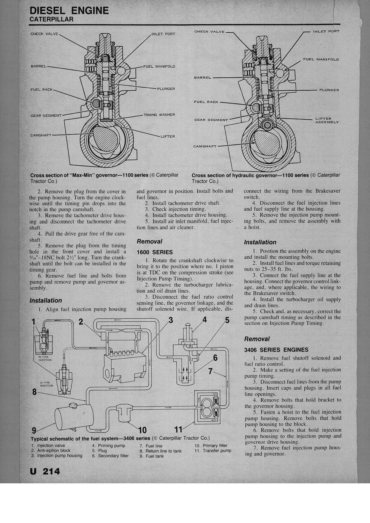 1981peterbilt3406catfueldeliverydiagram 3204 Cat Engine Diagram Thanks Dave Graphic