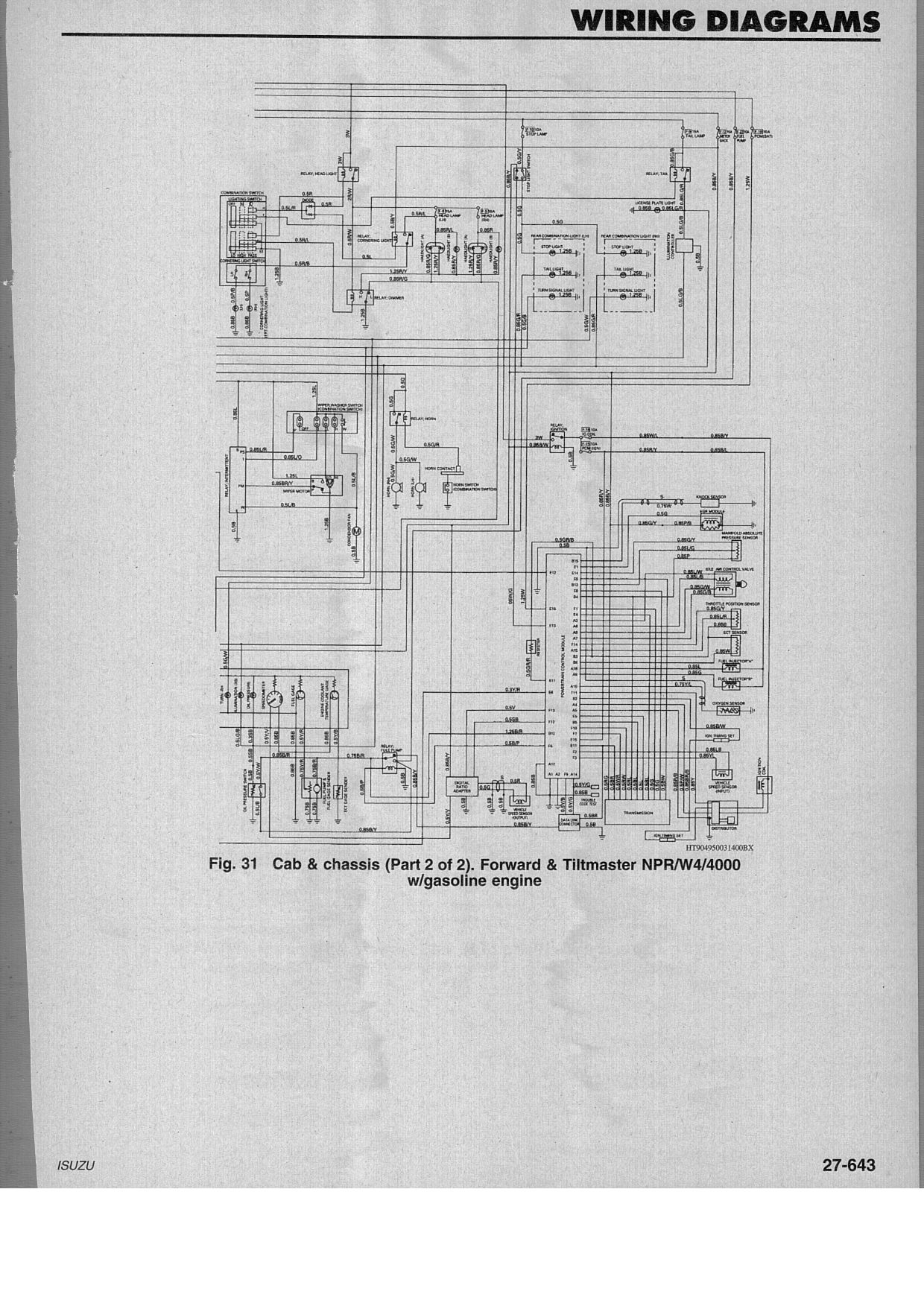 1995 isuzu npr wiring diagrams   30 wiring diagram images