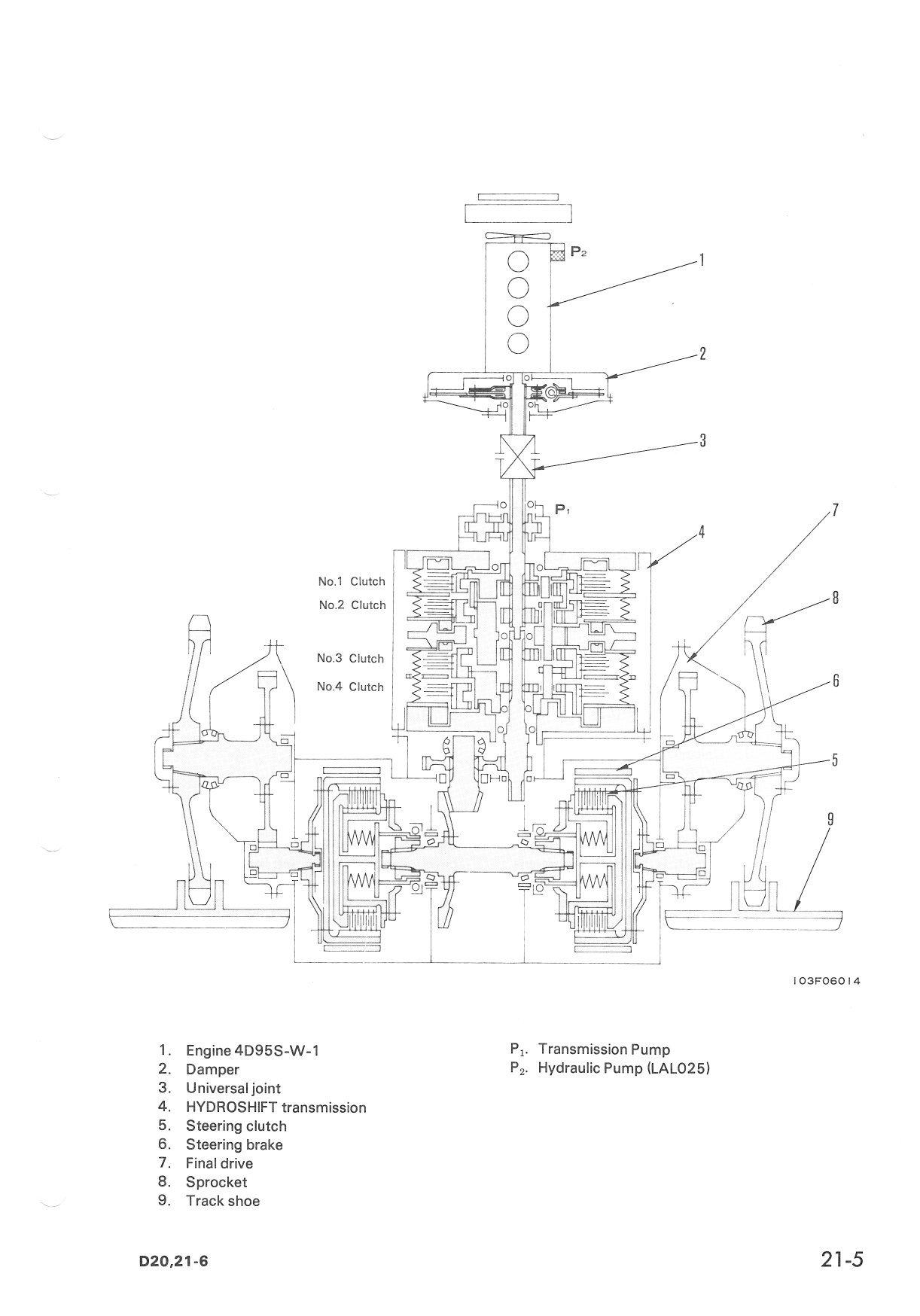 i have a komatsu crawler dozer d21a 6 serial no 66299 i need rh justanswer com Komatsu D21A Dozer 6 Komatsu D21A Dozer Weight
