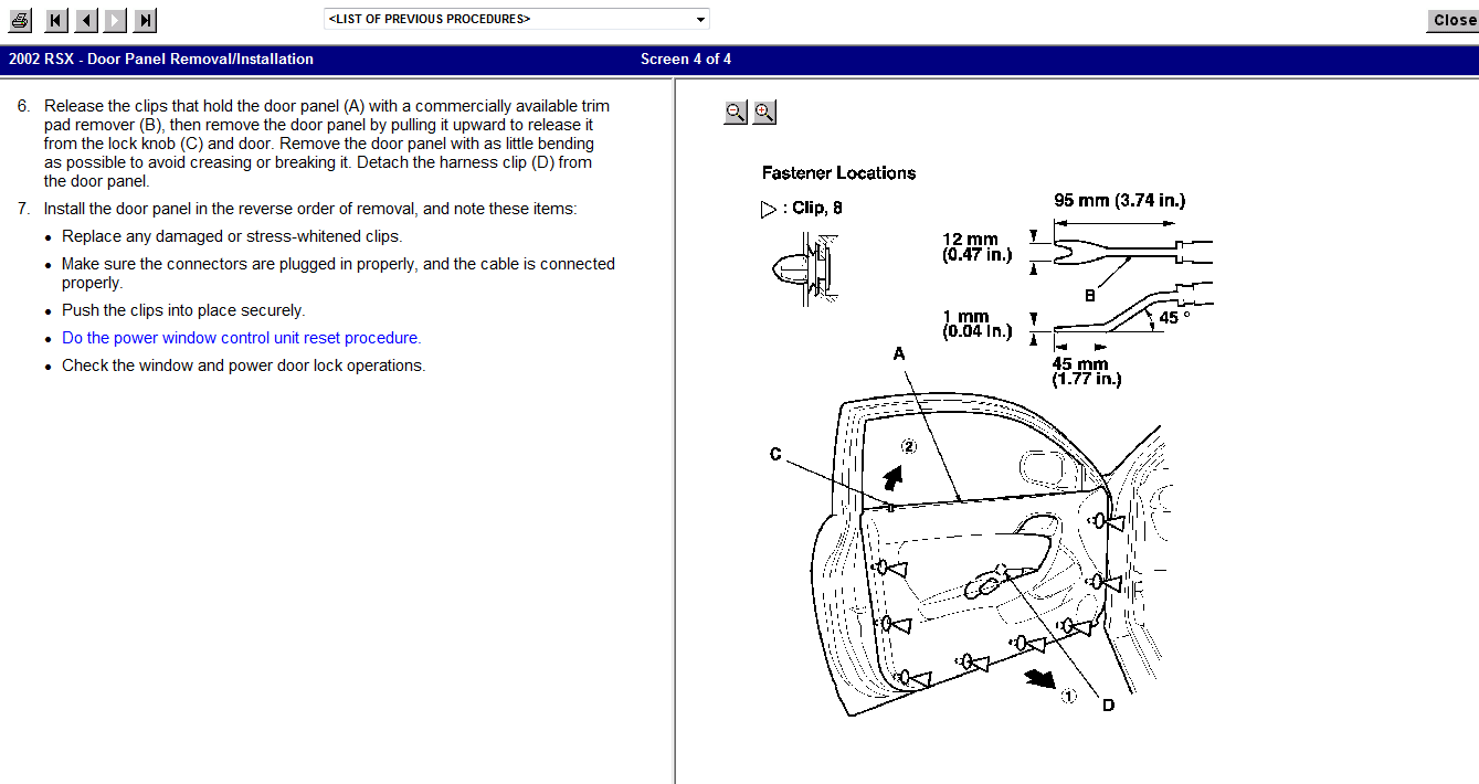 I Need To Replace 2002 Acura Rsx Electric Window Motor