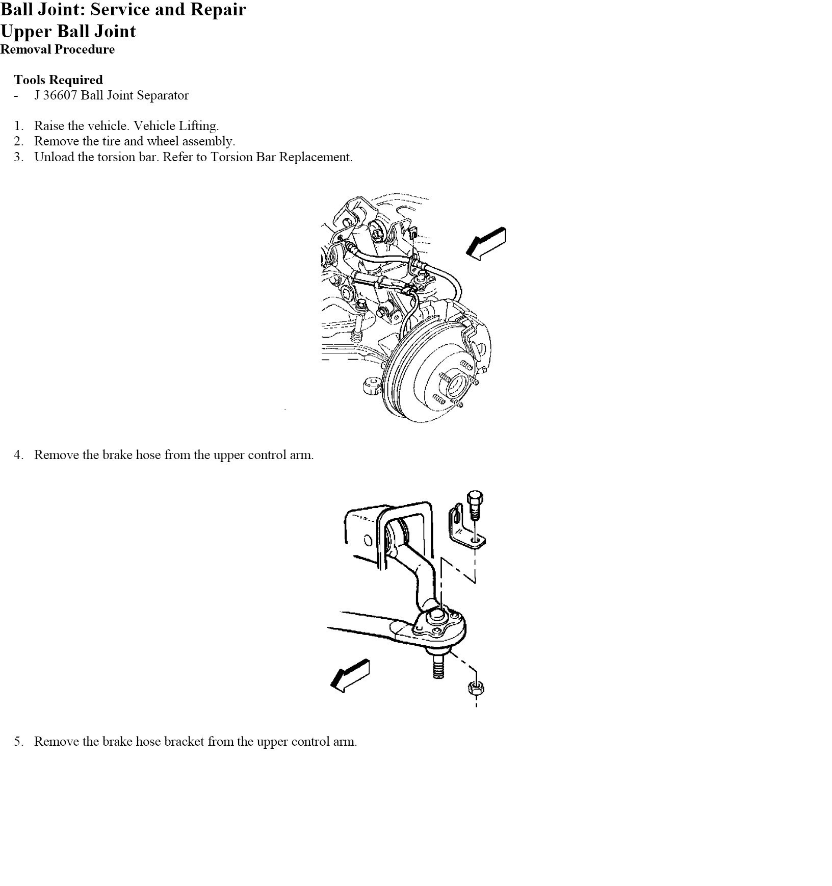 I Am Trying To Change The Ball Joints On A Gmc Safari Awd And Can Envoy Upper Joint Here Are Instructions For