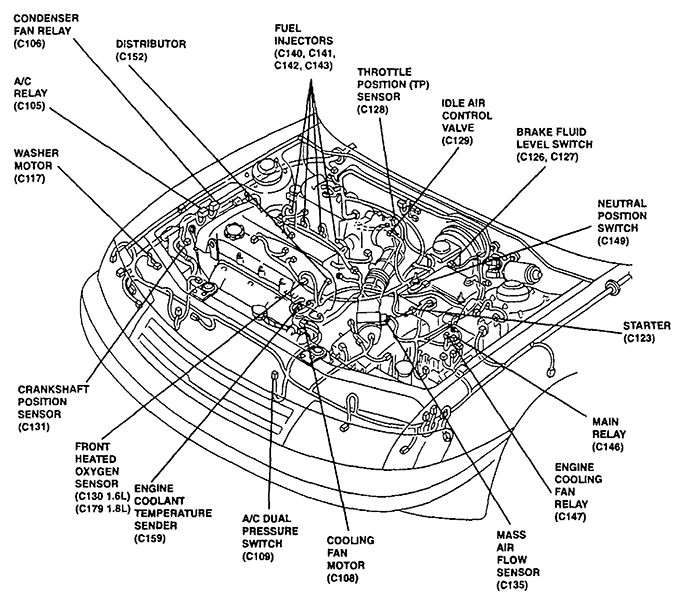 97 kia sportage engine diagram