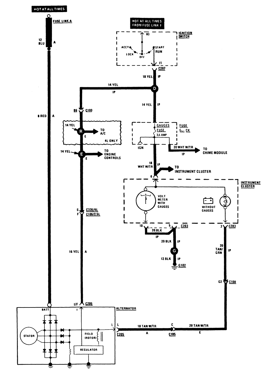 I Need A Wiring Diagram For A Alternator On A 1987 Jeep