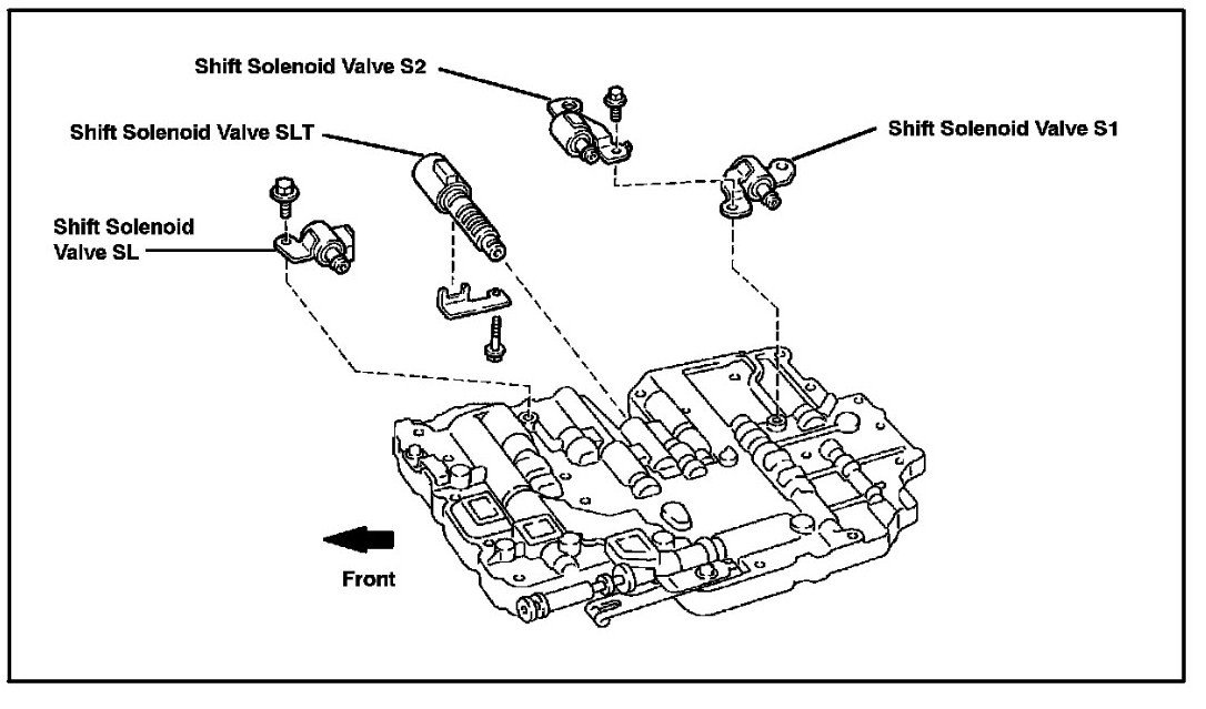 ford focus shift solenoid diagram  ford  auto parts