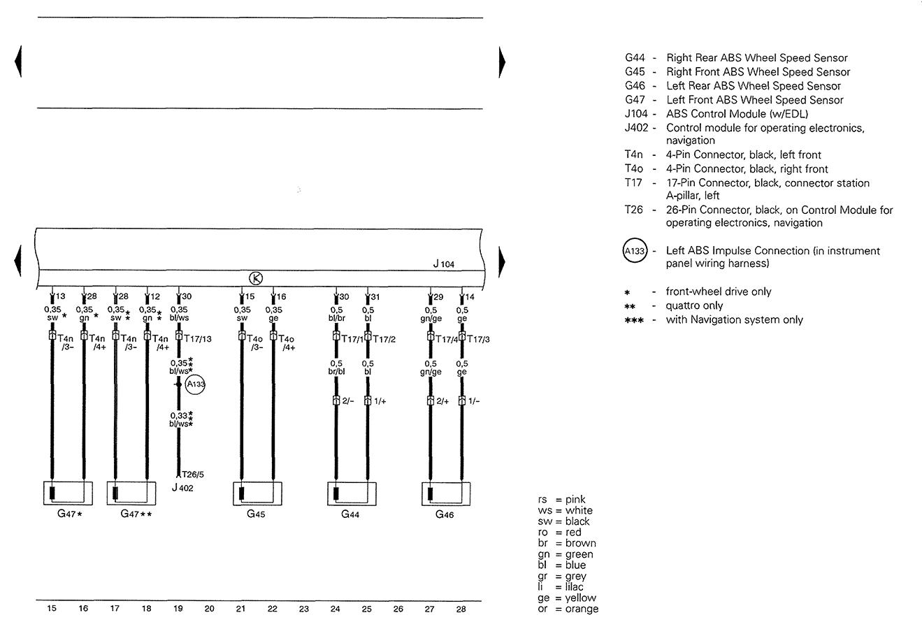 Audi A4 Aeb Wiring Diagram : Audi a b wiring diagrams auto diagram