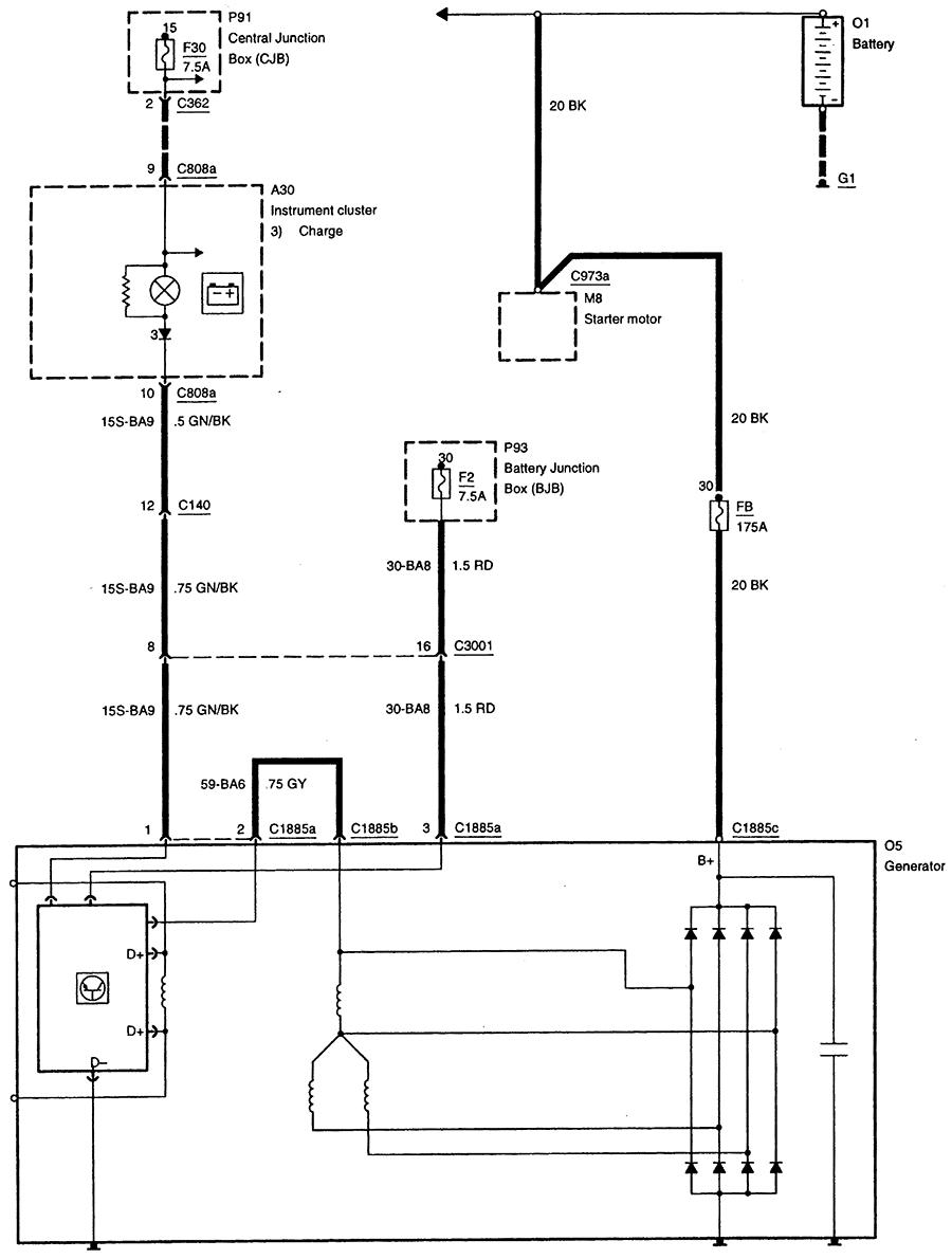 2000 Ford Contour V6 Se Eating Alternators Only Symptom Is Escape Subwoofer Wiring Diagram Graphic