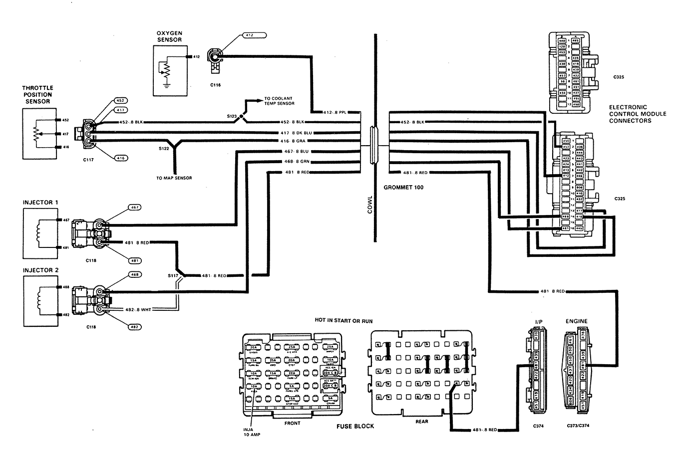where can i find an oxygen sensor wiring diagram for a 1989