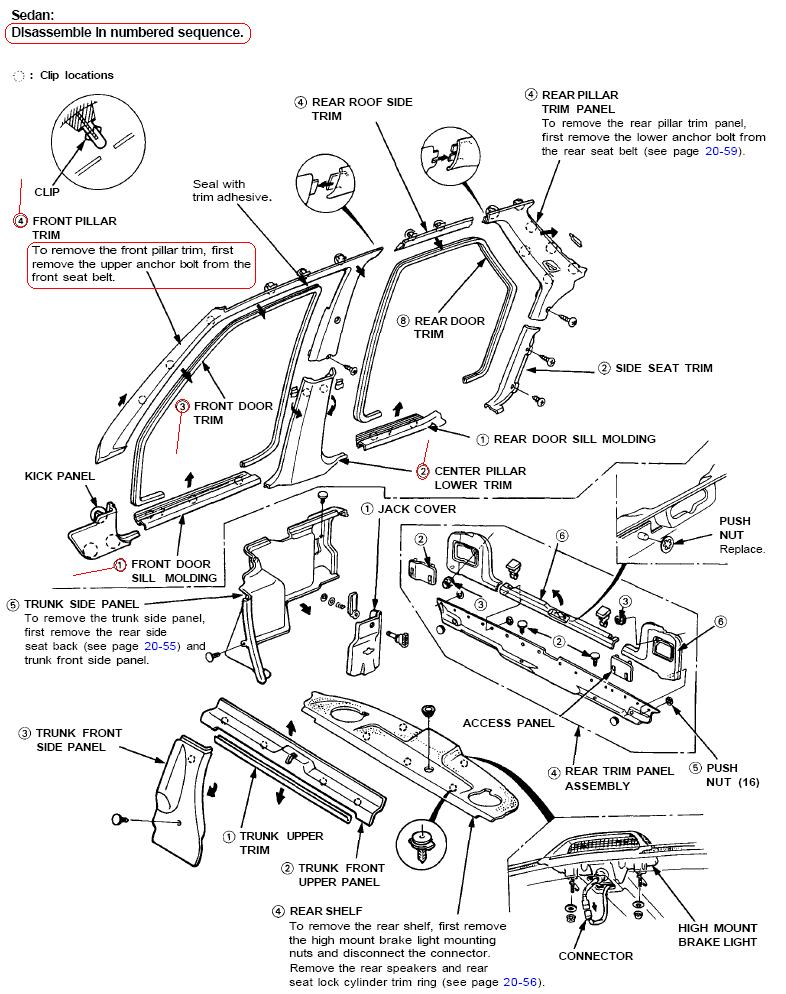 what could be causing water on the passenger side floor of our 1993 1991 Honda Accord Belt Diagram graphic