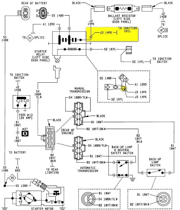 no battery wiring diagram ignition point