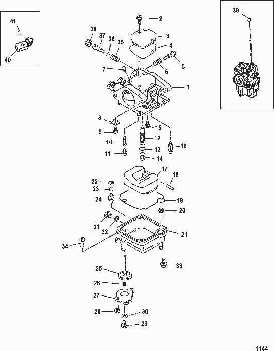 20 hp mercury carburetor diagram mercury 100 hp carburetor