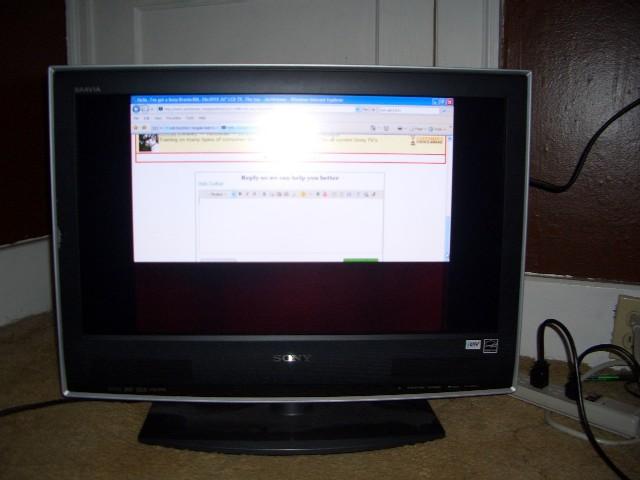 I've got a Sony Bravia KDL-26s2010 26