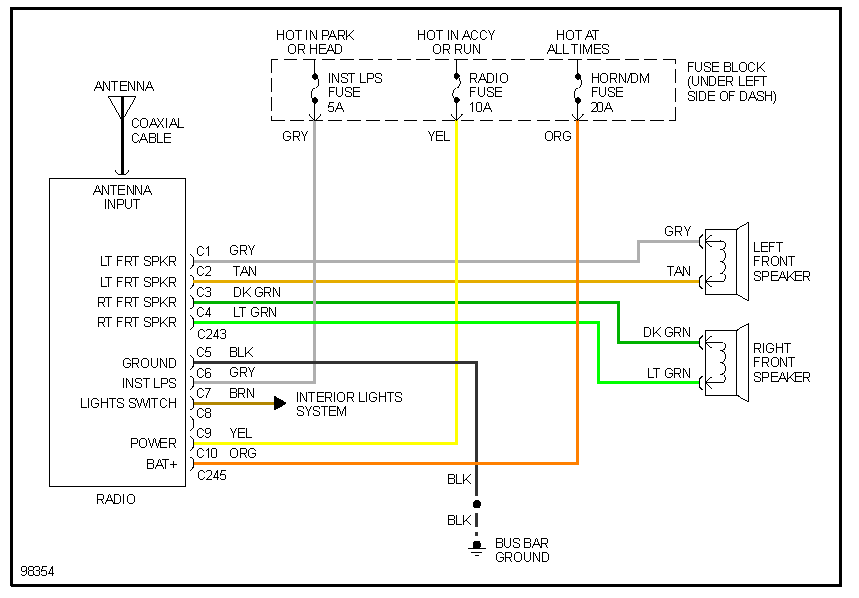 Looking For Wiring Diagram To Hook My Factory Radio Back