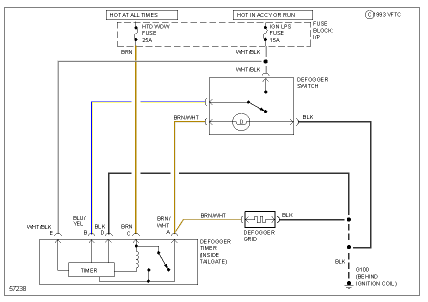 Need A Wiring Diagram For The Rear Defogger In A Jeep Yj