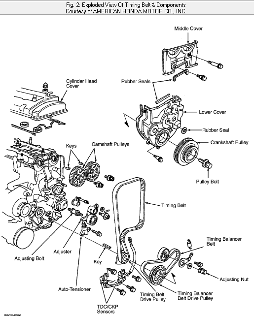 service manual  1999 honda prelude how to replace timing