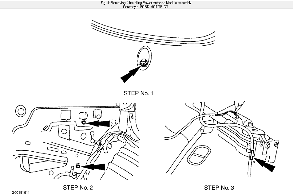 how do i replace antenna on 2002 ford taurus