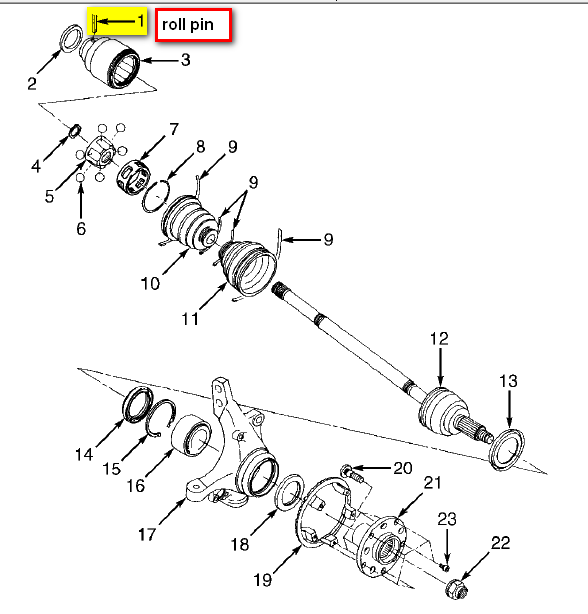 I Have A 1999 Subaru Legacy Outback I Am Replacing The Cv Joint I