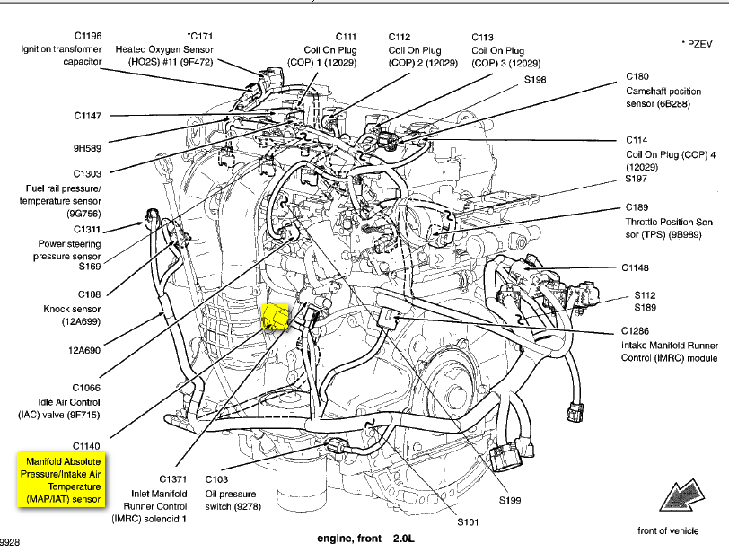 ford coolant sensor location