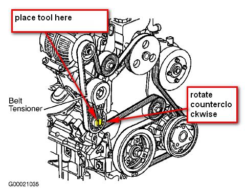 on 2003 Chevy Cavalier Serpentine Belt Diagram