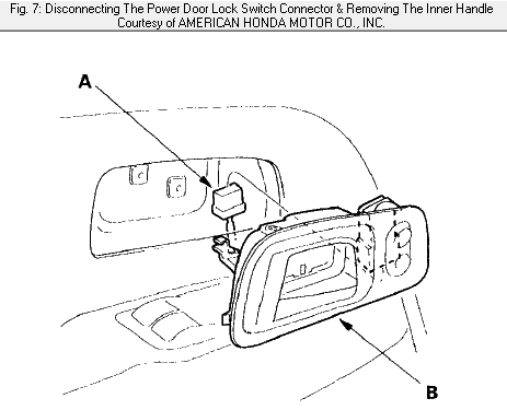 How Do I Remove Lock Cylinder From Rt Ext Door Handle On 2004 Honda