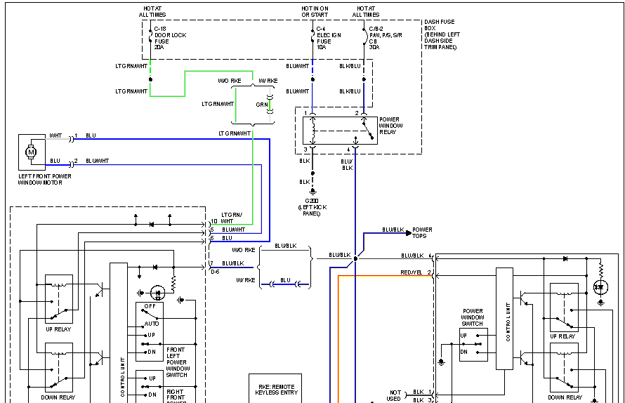 Need Wiring Diagram For Isuzu Trooper 3 1d 1996 Showing Circuit For Driver Window Control Unit