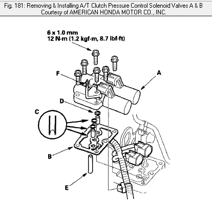 Honda Odyssey Transmission Location further 2i4p9 Honda Accord 2000 V 6 Check Engine Light Wednesday A in addition 2003 Acura Tl Transmission Diagram further 31025 Oem Atf Filter likewise Honda Accord Tcs Diagram. on honda odyssey transmission shift solenoid