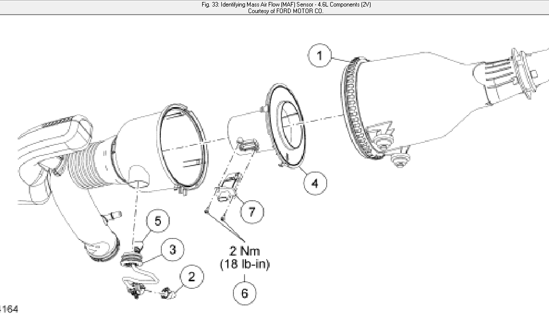 2001 ford f 150 maf sensor location