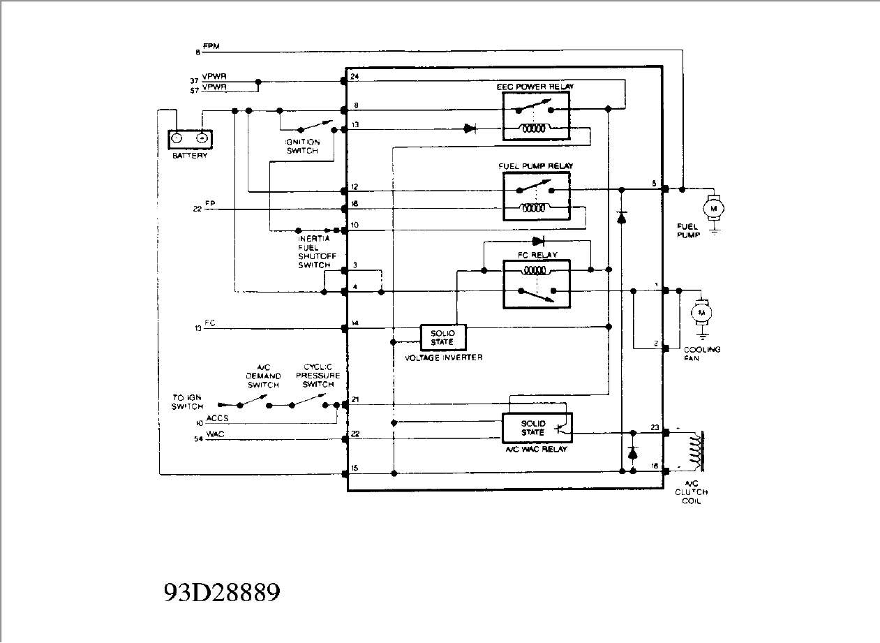 Need    wiring       diagram    for 1994 ford    tempo    electric cooling fan and related ponents