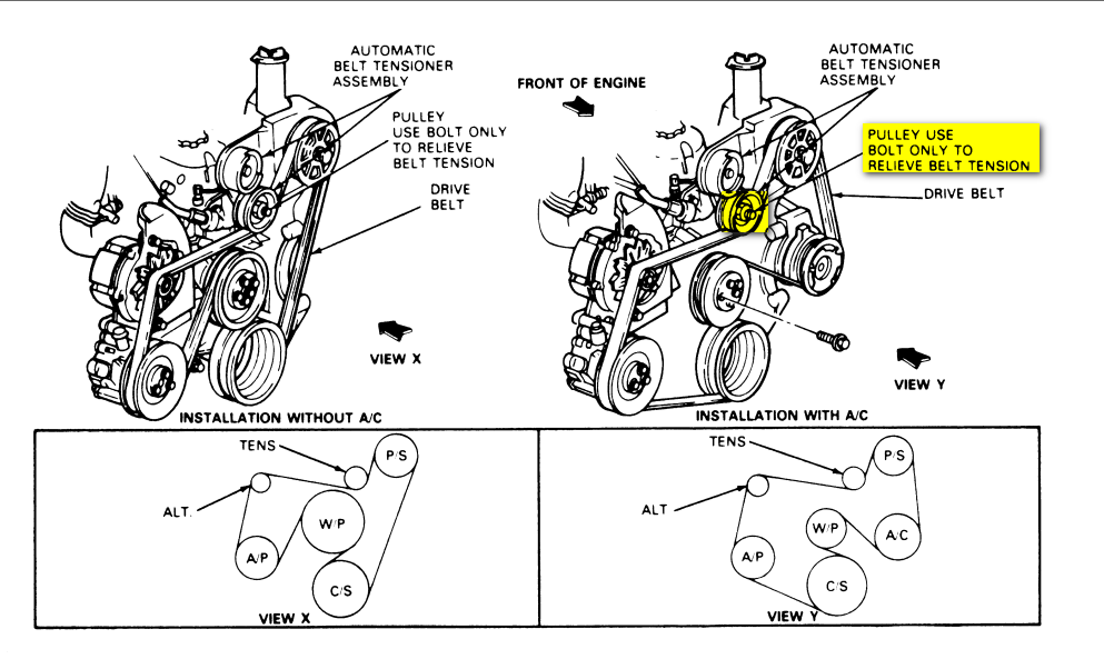 Routing on 1994 Ford F 150 Engine Diagram