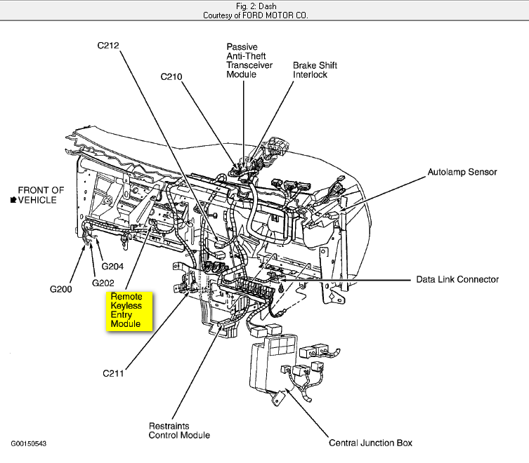 where can i find my computer module on a 2003 ford